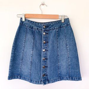 Urban Outfitters BDG Denim Button Front Mini Skirt